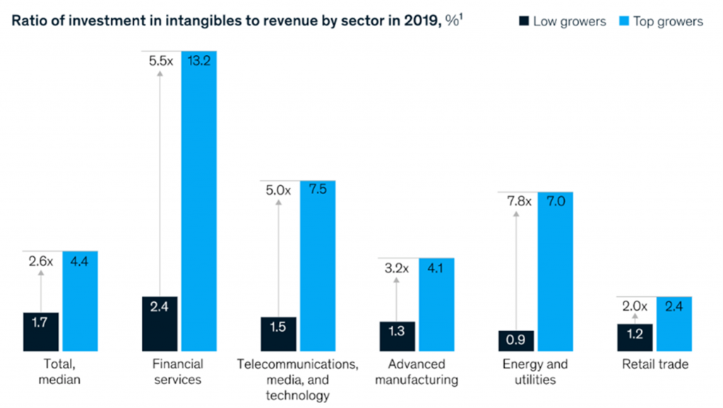 investment in intangibles to revenue by sector